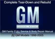 GM Family 1998-2005 Custom FULL Service Repair Workshop Manual DvD Software