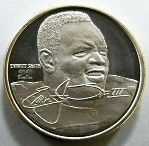 EMMITT SMITH NFL .999 Silver Coin Medallion & Info Card Highland Mint with COA