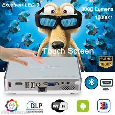 1080p 10000:1 DLP Heimkino Android 4.4 wifi Projektor HDMI USB 3D Beamer 16:10