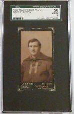1894 Mayo's Cut Plug N302 R. Acton SGC 50 VG/EX 4 Harvard Football Tobacco Card