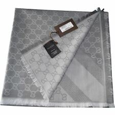 GUCCI SCARF PANNO WOOL&SILK 140x140 Genuine scarf schal UNISEX SCIARPA AUTENTICA