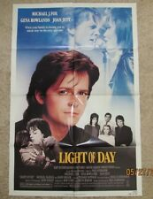 LIGHT OF DAY MINT ORIGINAL FOLDED MOVIE POSTER 1987 MICHAEL J. FOX JOAN JETT