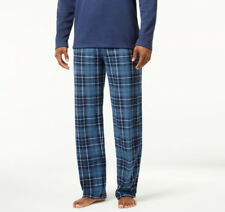 Club Room Men's Fleece Blue Mcabee Plaid Size-M Pajama Lounge Pant