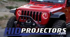 Color Changing RGB HD LED Halos for 2018 2019 2020 Jeep JL Wrangler Gladiator