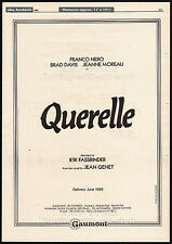 QUERELLE__Original 1982 Cannes Trade AD / movie poster__RAINER WERNER FASSBINDER