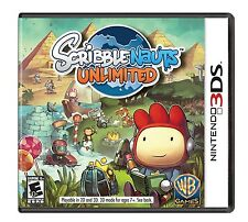 Scribblenauts Unlimited [Nintendo 3DS, Draw Create, Side-scrolling Puzzle] NEW