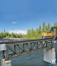 4520 Walthers 109' Single-Track Pratt Deck Truss Railroad Bridge HO Scale Kit