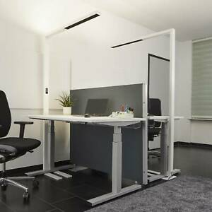 LED-Stehlampe Jolinda Office Touchdimmer Tageslichtsensor Weiß Lampenwelt Büro