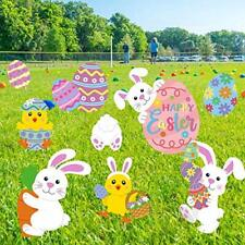 Easter Yard Signs Peeps Bunny Cutouts Outdoor Lawn Decorations Easter.