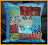 Hand Crafted Tribal Patch work turquoise Pillow Cover Cushion Cover India