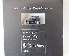 Busch / MCC Werbemodell 1:87 Smart City-Coupe mad red & Bodypanel Fresh-Up schwa