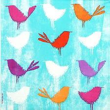 4x Tovaglioli di carta per Decoupage Decopatch Craft COLORATO Birds