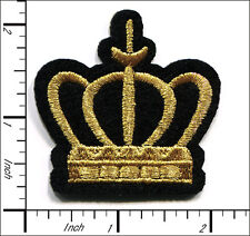 "30 Pcs Embroidered Sew or Iron on patch Imperial Crown 1.96""x1.96"" AP038hA"
