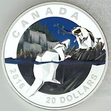 Canada 2016 $20 Geometry in Art: Beaver 1 oz 99.99% Pure Silver Color Proof Coin