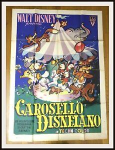 ⭐ CAROSELLO DISNEIANO - 4 F -Paperino Qui Quo Qua Pluto -1955 RKO- DISNEYANA.IT