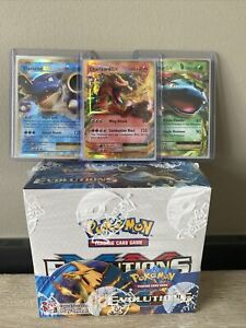 POKEMON TCG XY Evolutions Booster Box + Charizard Starters Trio!  | IN STOCK