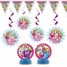 7pc Shopkins Children's Birthday Party Room Decoration Kit