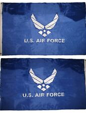 3x5 Embroidered Air Force Wings Blue Double Sided Nylon Flag 3'x5' Pin & Clips