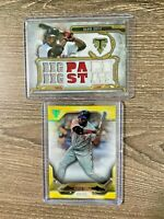 DAVID ORTIZ 2 CARD LOT 2020 TOPPS TRIPLE THREADS RELIC AND NUMBERED RED SOX