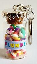 MINIATURE NOVELTY JAR OF FIMO FLUMPS SWEETS  KEYRING/BAG CHARM