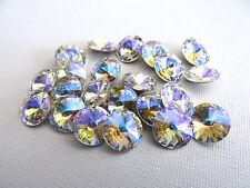 6 Clear Crystal Glacier Blue Swarovski Crystal Rivoli Stone 1122 39ss 8mm