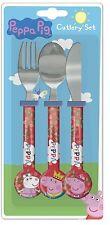 """Spearmark Peppa Pig """"una vez alrededor"""" para niños Juego De Cubiertos Fiesta Regalo edad 3 - 4"""