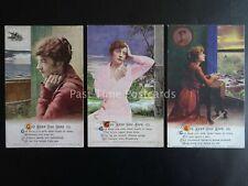 More details for god keep you safe - ww1 bamforth song cards set of 3 no.4960