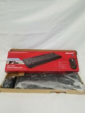 Microsoft Wired Desktop 600 Keyboard and Mouse Black - Wired USB Keyboard