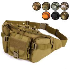 Men Nylon Waist Bags Military Outdoor Sport Hiking Travel Crossbody Pack Bum Bag