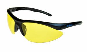 BluWater Islanders 2 Polarised Sunglasses Black/Yellow ML