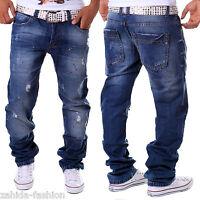 pantalon jeans pour Hommes Coupe Droite CARGO maigre clubwear style bleu vintage
