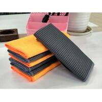 Pineapple Car Wash Towel Honeycomb Style  Lint-Free Microfiber Cleaning Cloth