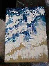 Original Abstract Ocean Acrylic Painting