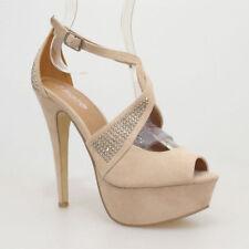 Buckle T-Strap Synthetic Sandals & Flip Flops for Women