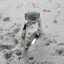 Size 8 3/4, Size R, Size 59 Blue LARIMAR Ring in solid 925 STERLING SILVER #0399