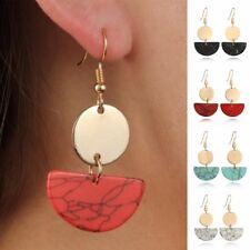 Geometric Resin Statement Earrings Marble Acrylic Dangle Earring Jewelry Boho -O