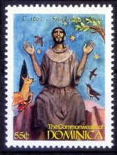1243, Saint Francis of Assisi, Religion, History, Dominica MNH, Millennium -X1