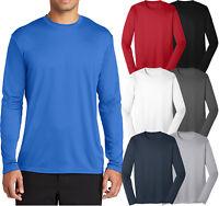 Mens LONG SLEEVE Base Layer T-Shirt Dri-Fit Moisture Wick  S-XL 2X, 3X, 4X NEW