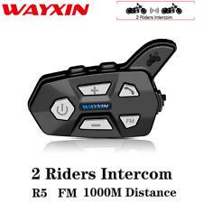 Up to 1KM Full Duplex Motorcycle Helmet Bluetooth Intercom Headset FM Radio MP3