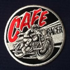 Cafe Racer motorbike vintage racing bike biker sew iron on patch