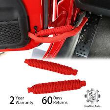 Red Auto Door Limit Strap Bandage Rope for Jeep Wrangler JL JK TJ 1997-2018 2pc