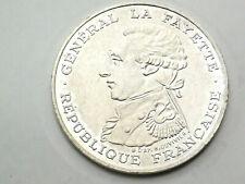 Pièce argent 100 Francs La Fayette 1987