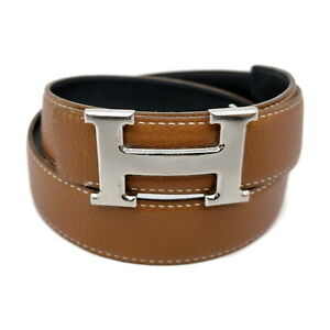 Hermes Belt  Reversible Browns Black Leather 1728856