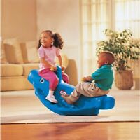 Little Tikes Whale Teeter Totter Blue Toddlers Play Fun Indoor Outdoor Yard New