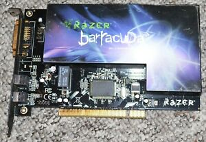 RAZER Barracuda AC-1 Gaming Audio Card, 7.1 Channels, PCI, S/PDIF, HD-DAI