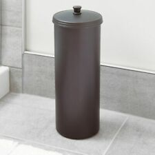 Toilet Paper Roll Holder Free Standing Bronze Bathroom Tissue Canister Storage