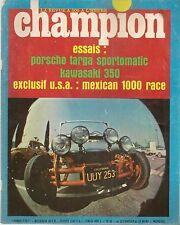 CHAMPION 26 1968 RALLYE MONTE CARLO PORSCHE 911 L 2.0 SPOR KAWASAKI 350 AVENGER