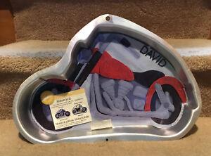 Wilton Cake Pan Motorcycle  w/ insert -New