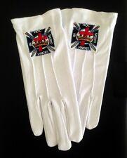 Cotton Gloves with Knights Templar Emblem (KT-GLC)