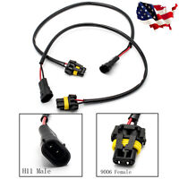 H11 H8 H9 Male To 9005 9006 HB4 Female Wiring Harness Ballast Conversion Socket